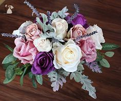Boho Wide Bouquet of full roses - Venue and reception decor (*Amazon Partner-Link)