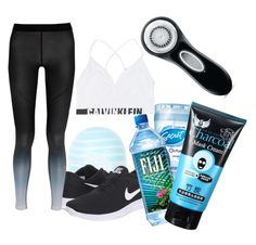 """Healthy and Blue~"" by mjmelisg on Polyvore featuring Topshop, Calvin Klein Jeans, Clarisonic and NIKE"