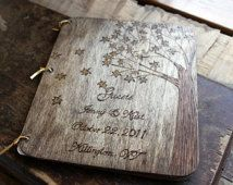 Custom Wedding Guest Book - Maple Tree