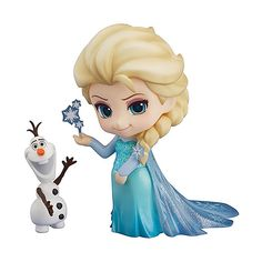 Highly Detailed Disney Frozen Elsa Figure  https://www.retrogamingstores.com/gaming-accessories/toy-nendoroid-vinyl-figure-frozen-elsa-nendoroid-figure  Approximately 100mm in height.