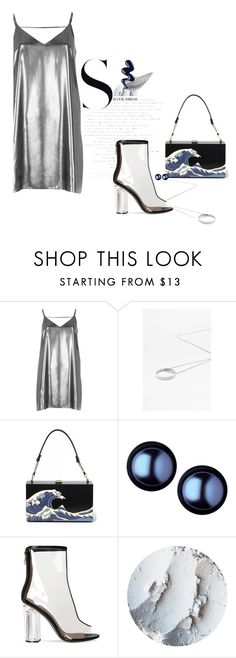 """""""Sliver Dress"""" by fan-addx on Polyvore featuring River Island, Links of London, LIST and metallicdress"""