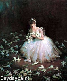 Ballet Girl in Beautiful Lilies