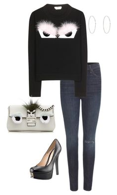 """""""Untitled #2261"""" by janglin725 ❤ liked on Polyvore featuring Mother, Fendi and Jennifer Meyer Jewelry"""