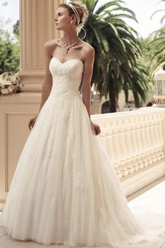 Style 2108  Strapless sweetheart neckline with Soft Tulle ruched bodice. The skirt is a gathered A-line silhouette. The Soft Tulle overlay f... This one is at ellie's and IdoIdo