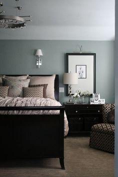 clean and chic dark furniture - Dark Furniture Bedroom Ideas