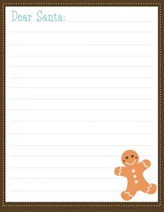Dear Santa Printable Stationary For Kids To Write Santa