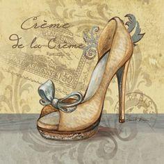 Fashion La Mode II by katheryn Vintage Labels, Vintage Cards, Vintage Paper, Decoupage Vintage, Images Vintage, Vintage Pictures, Fashion Art, Fashion Shoes, Etiquette Vintage