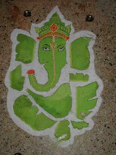 Beautiful Ganesha Rangoli Designs, Rangoli Ganesha, Ganesh Pattern Rangolis ~ Diwali Celebrations 2013