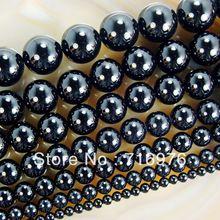 "wholesale 15.5"" Smooth Round Black Agate Onyx Beads 4 6 8 10 12 14mm Pick Siz Free Shipping-F00061(China (Mainland))"