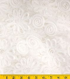 David Tutera™ Embroidered Lace Fabric-White - use as t-shirt overlay
