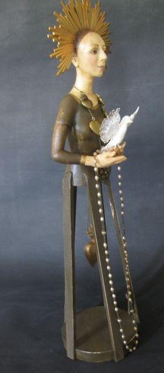 Santos Doll One of A Kind Niada Artist Annie Wahl Design Antique Religious   eBay