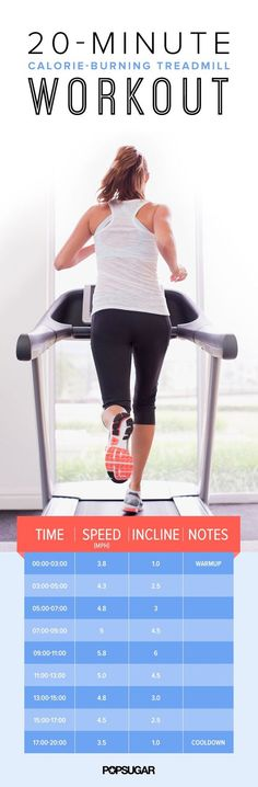 Get in. Get out! This short treadmill workout is the perfect lunchtime treadmill plan for busy times!: