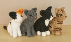 AmiCats Collection - FOUR amigurumi crochet patterns : PlanetJune Shop, cute and realistic crochet patterns & more