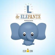 Con L de Elefante Taller Manual de ilustracion Kawaii En @cafeorigamistudio #cute #kawaii #mostropi #ilustración #illustration by mostropi