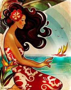 Farewell My Summer Love by Kat Reeder http://www.katreeder.com/ One of my favorite artists in Hawaii