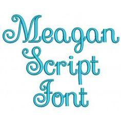 Meagan Script Embroidery Font Machine Embroidery Designs by JuJu
