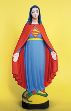The Virgin Mary transformed into Supergirl