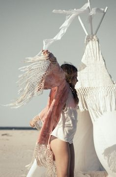 Indian ethnic inspired teepee with modern hippie fringe boho style cover up top. For the BEST Bohemian fashion & Jewelry trends FOLLOW http://www.pinterest.com/happygolicky/the-best-boho-chic-fashion-bohemian-jewelry-gypsy-/