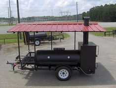RIB BOX  BBQ PIT SMOKER trailer gas starter GRILL /roof