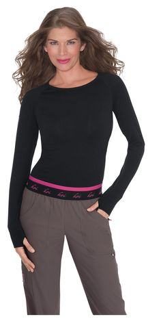 872106c4029 koi Lite Women's Divine Seamless Solid Long Sleeve T-Shirt