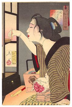 Yoshitoshi Taiso 1839-1892 - Dark - Thirty-two Aspects of Customs and Manners of Women