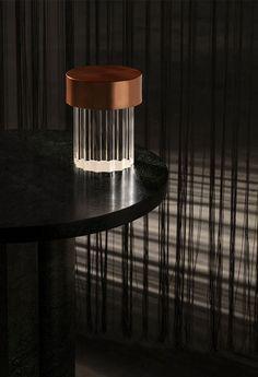 Last Order Fluted lamp | Table | Flos Patricia Urquiola, Philippe Starck, Captain Flint, Modern Lighting, Lighting Design, Interior Lighting, Light Table, A Table, Achille Castiglioni
