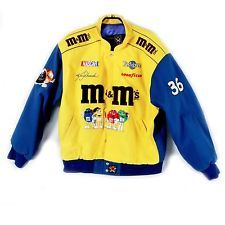 M&M's NASCAR Jacket Yellow COLLECTABLE  XL