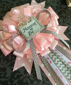 Little Princess Baby Shower Mommy To Be Pin   Little Princess Corsage  Pink  And Gray Baby Shower  Mommy To Be Corsage  Princess Baby Shower