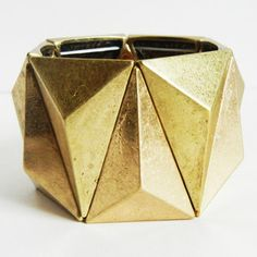 Geometric Stretch Bracelet Gold, 34€, now featured on Fab.