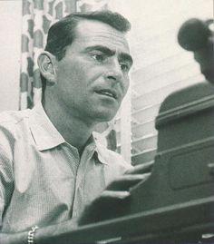 Rod Serling at the typewriter