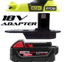 Ryobi Adapter lets you use Dewalt Makita or Milwaukee 18V Batteries on Ryobi 18V Tools - Tool Craze