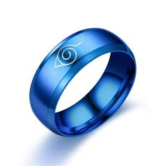 Anime Logo Sign Ring Kakashi Ninja Ring Cosplay Prop Stainless Steel Jewelry Fashion Titanium Steel Jewelry  Accessories - D / 11Size