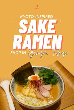 This time our host Frank Striegl heads to Tokyo's glamorous Ginza district to sample a unique bowl of sake ramen made with sake lees. This is the signature dish of Kazami Ramen, a top Ginza ramen restaurant that takes its inspiration from the delicate elegance and refined sake culture of Kyoto. Check it out here!👆🍜🍶 #JapanByFood#Japan#JapanTravel#TravelJapan#JapaneseFood#JapaneseCulture#JapanEats#Ramen#JapanFood #Ramen #Tokyo #Kyoto #Travel #Foodie #FoodTour #TravelTips… Japanese Culture, Japanese Food, Ramen Restaurant, Ramen Shop, Japan Destinations, Kyoto, Tokyo, Barbie, Delicate