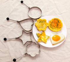 free ship, 4pcs/lot Hot Thicken Stainless Steel Omelette Device DIY Food Fried Love Star Eggs Cake Mould Breakfast Mold
