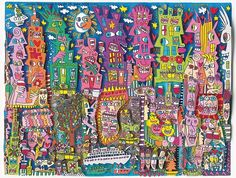 "James Rizzi ""Life is fun and sometimes dumb"" 3D-Siebdruck 23 x 29 cm"