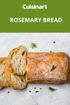 Aromatic rosemary bread is delicious dipped in olive oil and makes a satisfying appetizer Rosemary Bread Machine Recipe, Sourdough Bread Machine, Best Bread Machine, Savory Bread Recipe, Bread Maker Recipes, Ciabatta, Olive Oil Bread, Buttermilk Bread, Bread Shop