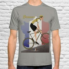 Did you know the Tour de France started in 1903? Vintage Style Tour De France T Shirt by wyatt9dotcom on Etsy, £17.00