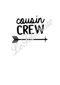 Cousin Crew svg-Instant Digital Download family svg Reunion svg shirt - Crazy Cousin Crew svg pdf png jpg cut file cousins cute