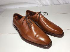 ALLEN EDMONDS Mens Casual Dress Shoes Mahogany Brown Lace Up Oxfords Sz Size 12D