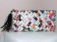 Como hacer Bolsos de Papel Cruzado Origami - enrHedando