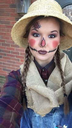 Easy scarecrow makeup!                                                                                                                                                                                 More