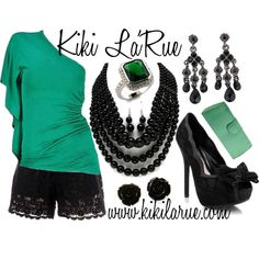 """""""Kiki Bright Lights One Shoulder Top"""" by allinmytwenties on Polyvore"""