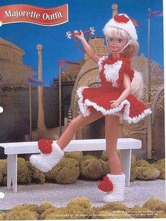 Barbie crochet majorette fashion