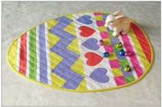 Cut, Stitch, and Piece: Easter Egg Table Topper