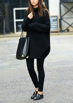 All black everything - perfect winter look!