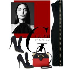 Untitled #3793 by julinka111 on Polyvore featuring Balmain and Prada