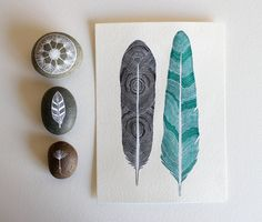 Popular items for feather watercolour on Etsy