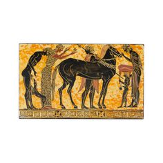 Hand made painting in wood with black figure theme Black Figure, Greek History, How To Make Paint, Acrylic Colors, Moose Art, Museum, Paintings, Wood, Handmade