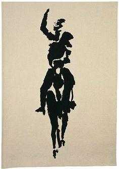 Louis le Brocquy, Horseman John Duncan, Textile Tapestry, Digital Storytelling, Irish Art, Irish Celtic, Traffic Light, Horses, Embroidery Ideas, Abstract