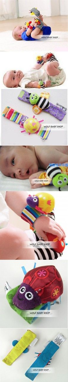 Wholesales 10pcs/lot infant baby toys new style animals bees + ladybird Wrist Rattles with ring bell for learning&education 2014
